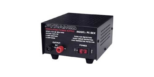 6-Amp Power Supply Front View