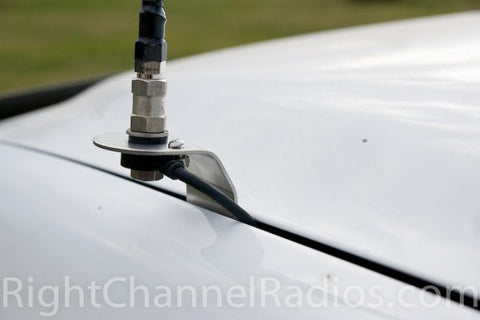 1999-2001 Chevy Hood CB Antenna Mount - installed