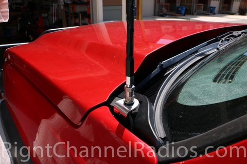 2002-2007 Chevy Hood CB Antenna Mount Installation Location