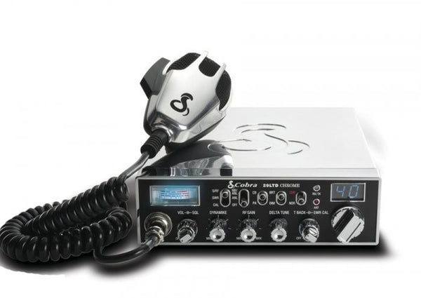 Cobra 29 LTD Chrome CB Radio Front View with Microphone