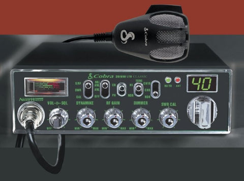 Cobra 29 NW LTD CB Radio Front View Night