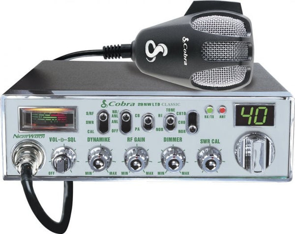 Cobra 29 NW LTD CB Radio Front View with Microphone