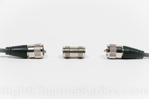 Double Female UHF Connector with Coax Cables