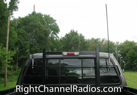 Firestik Dual CB Antenna kit installed