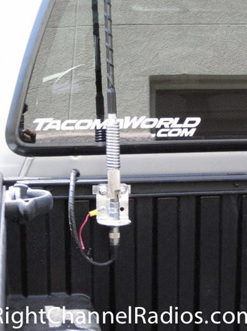Firestik FS antenna Kit installed the bed rail of a Toyota Tacoma