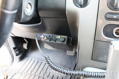 Uniden Pro 510 XL CB Radio Installed under Dashboard