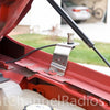 Ford F150 1997-2009 CB Mount Installed on the hood rail