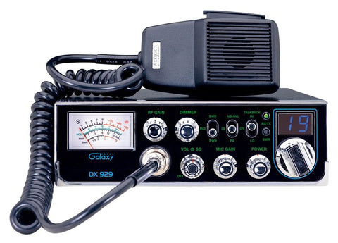 Galaxy DX 929 CB Radio Front View with Microphone