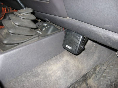Compact External CB Radio Speaker installed under Dash