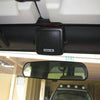 Compact External CB Radio Speaker Installed Above Mirror