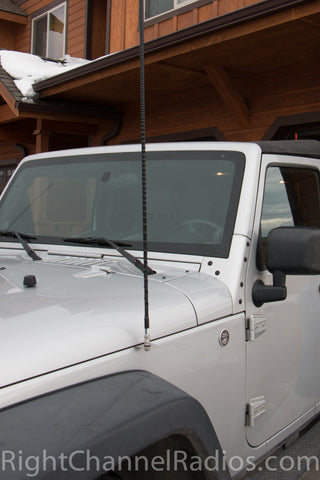 Jeep JK Fender Mount Installed hood Closed