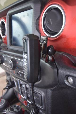 JL Jeep Mic Mount with Cobra 75