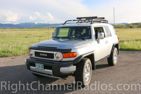 Toyota FJ Cruiser with Bandi CB Mount Installed