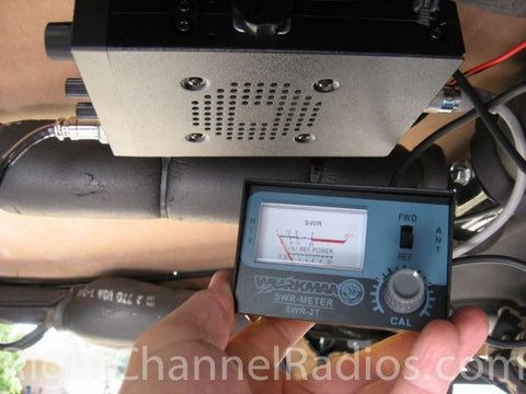 SWR Meter Attached to Radio