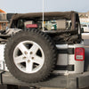 Jeep JK With TeraFlex Spare Tire CB Antenna Mount Installed