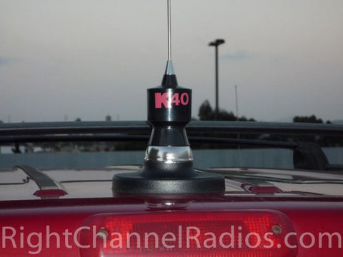 K40 Magnet CB Antenna Mount Installed on Roof