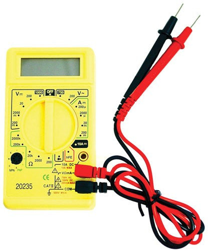 Multimeter for CB Installation Front View