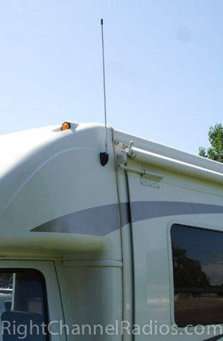 CB Antenna Molded Side Mount Installed on Motorhome