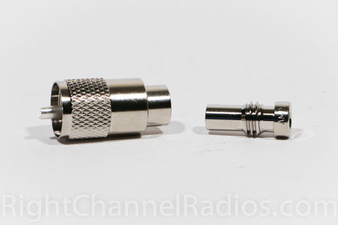 PL-259 Reducer and PL-259 Connector (Not Included)