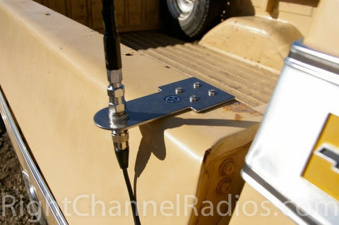 Stake-Hole Hangover CB Antenna Mount - Installed on Pickup Bed