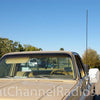 Procomm Single CB Antenna Kit Installed on Truck Mirror Arm