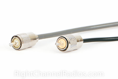 RG8X Coax Cable (Left) RG58 Coax Cable (Right)