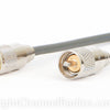 RG8X Coax Cable (Left) vs. RG58 Coax Cable (Right)
