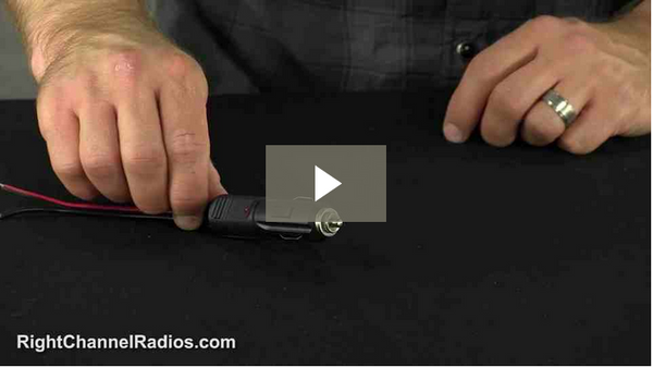 Solderless Cigarette Lighter Plug - Video