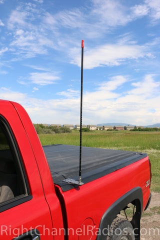 Firestik Stake Hole CB Mount Installed with Bed Cover