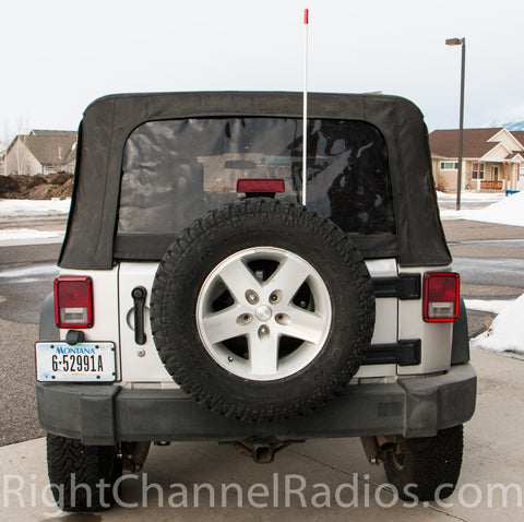 JK Jeep with Teraflex antenna mount