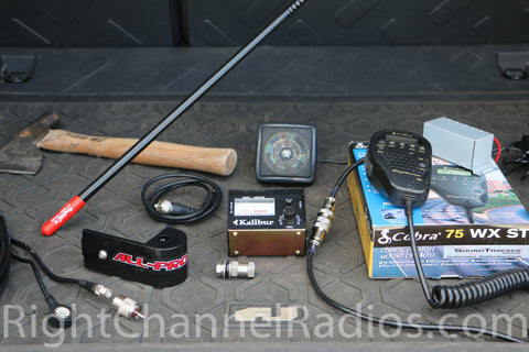Toyota FJ Cruiser CB Radio Kit - All Included Parts