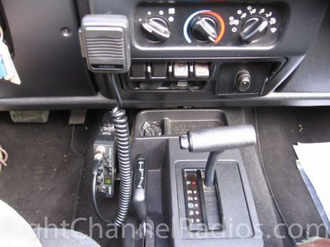 Uniden 510 CB Radio Installed in Pickup Cab