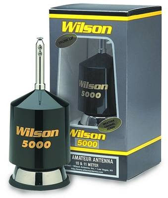 Wilson 5000 Trunk-Lip CB Antenna Front View with Box