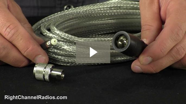 Wilson CB Coax with FME & Boot - 18' - Video