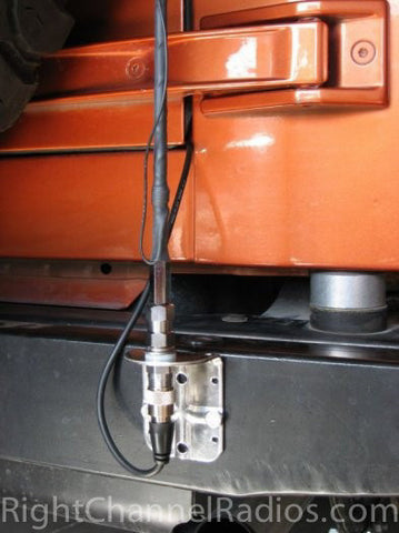 Wilson Flex CB Antenna Installed on Jeep Bumper