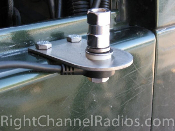 Jeep Wrangler Cb Antenna Hood Mount Right Channel Radios