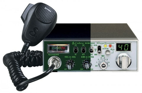 Cobra 25 NW WX CB Radio - Illuminated and Standard View