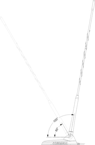 President New York CB Antenna - 60° / 100° adjustable angle