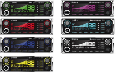 Uniden 880 CB Radio Display Colors