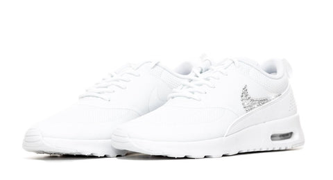 Nike Air Max Thea - Crystallized Swarovski Swoosh - Triple White
