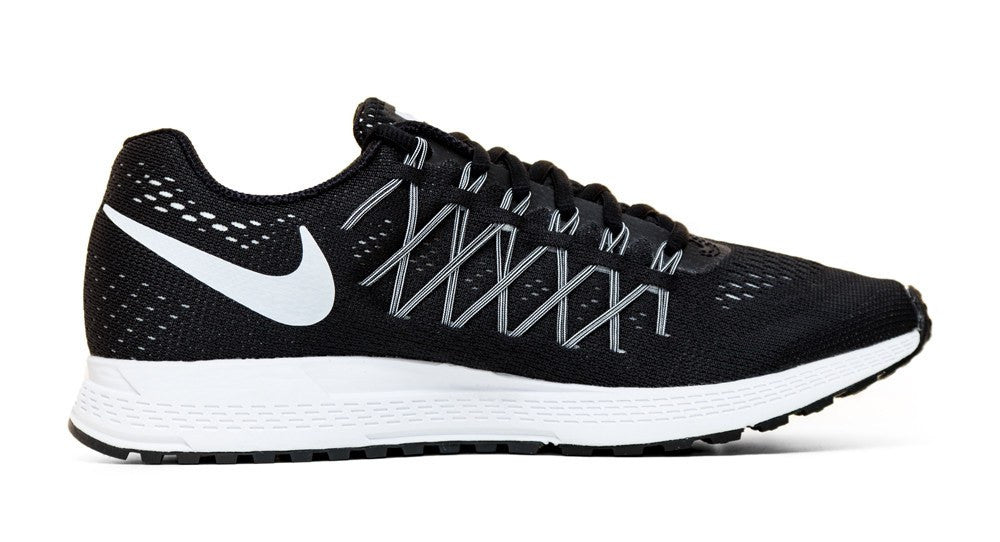 Nike Air Zoom Pegasus 32- Crystallized Swarovski Swoosh - Black/White - Glitter Kicks - 2