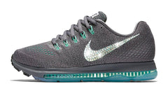 Nike Zoom All Out Low + Swarovski Crystal Swoosh - Grey