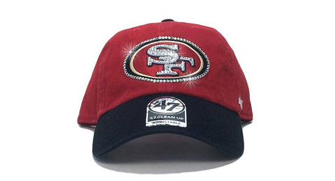 San Francisco 49ers Two-Tone '47 Brand Adjustable Cap + Custom Swarovski Crystals