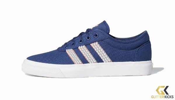 Adidas Adiease Shoes + Crystals - Tech Indigo/ Sky Tint/ Chalk Coral