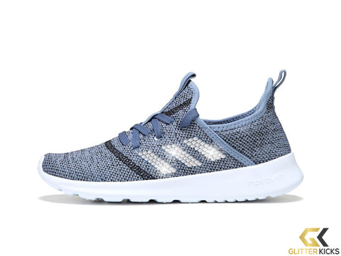 Adidas Cloudfoam Pure Sneaker + Crystals - Blue Black White 02b1b0a93e42