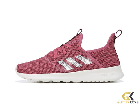 Women's Adidas Cloudfoam Pure Sneaker + Crystals - Mauve/Maroon