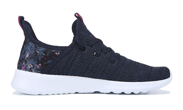 Women's Adidas Cloudfoam Pure Sneaker + Crystals - Navy/Purple/White
