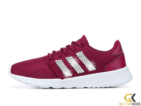 Adidas Cloudfoam QT Racer + Crystals - Mystery Ruby/Carbon