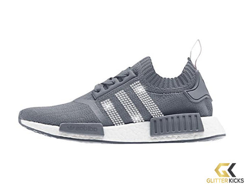 CLEARANCE - Adidas NMD-R1 Primeknit+ Crystals - Grey - Size 8.5 3ac09569e9