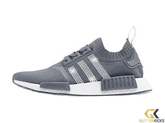 CLEARANCE - Adidas NMD-R1 Primeknit+ Crystals - Grey - Size 8.5